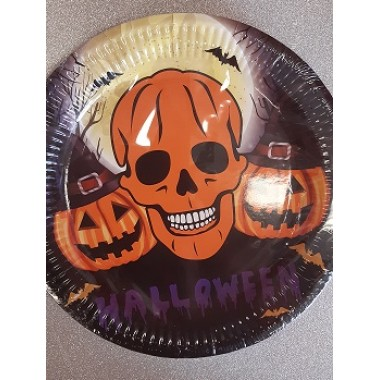 Halloween-re tányér