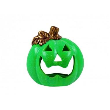 Halloween tök mécsestartó glitteres színes 12cm