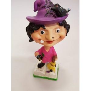 Halloween boszorkány figura