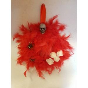 Halloween-re tollas dísz