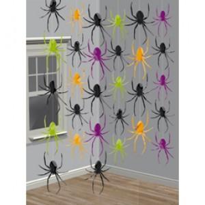 Halloween-re Pókos Függő Dekoráció - 2,1 méter