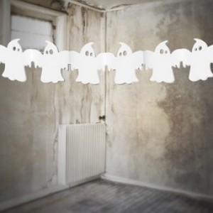 Halloween-re Fehér Szellem Girland  - 300 cm