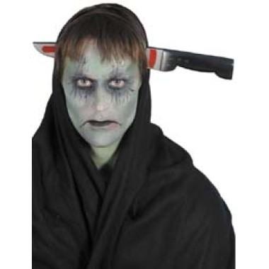 Halloween-re Késsel Átszúrt Fej