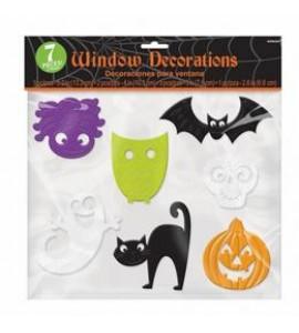 Halloween Mintázatú Ablakdekoráció - 7 db-os