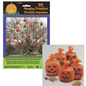 Halloween-re Tökfejes Zacskók Függő Dekoráció - 20 db-os