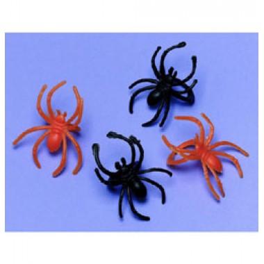 Halloween-re Narancssárga és Fekete Pókos Gyűrű  - 30 db-os