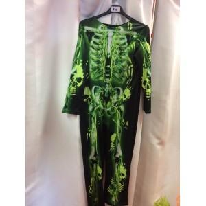 Csontváz zöld mintás
