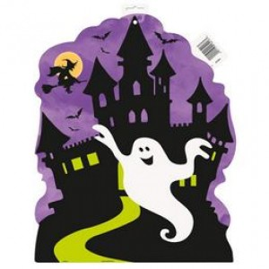 Halloween-re Kísértetház Karton Dekoráció