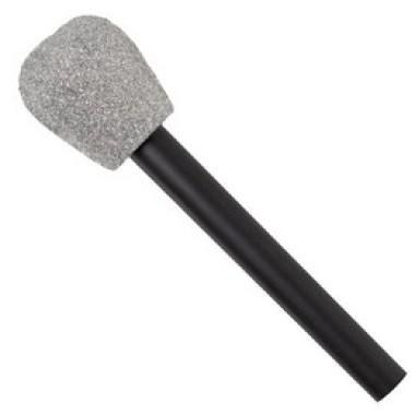 Ezüst Csillámos Mikrofon
