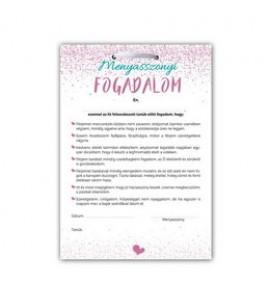 Menyasszonyi Fogadalom Lánybúcsús Ajándék Tábla