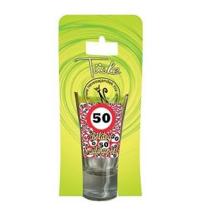 Feles üvegpohár vicces 50-es