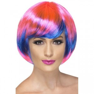 Paróka pink -kék funky