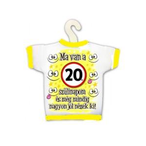 Üvegpoló 20. születésnapra