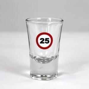 25-ös Számos Sebességkorlátozó Szülinapi Feles Üvegpohár