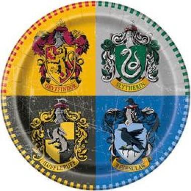 Harry Potter Parti Tányér - 22 cm, 8 db-os