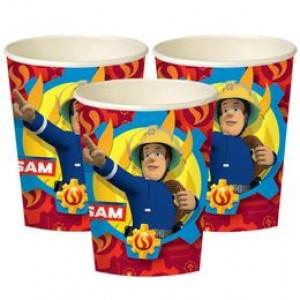 Fireman Sam - Tűzoltó Parti Pohár - 250 ml, 8 db-os