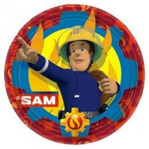 Fireman Sam - Tűzoltó Parti Tányér - 23 cm, 8 db-os