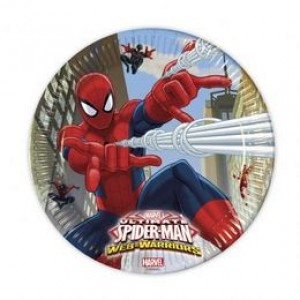Pókember Parti Tányér - 20 cm, 8 db-os