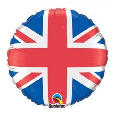 18' fóliás angol zászlós lufi
