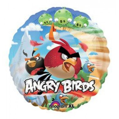 18' fóliás Angry Birds lufi
