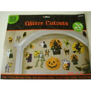 Glitteres halloween dekoráció