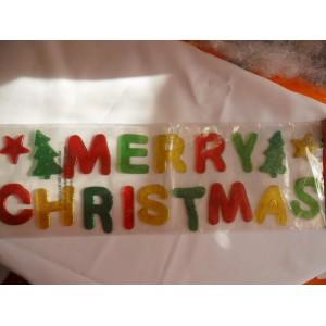 Zselés karácsonyi felirat