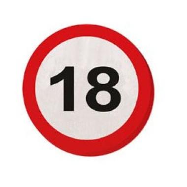 18-as sebességkorlátozós szalvéta