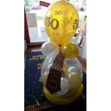 Lufiba csomagolás, 50. születésnapra, nyakkendõvel