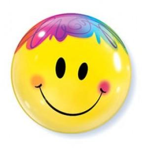 22' smile bubble fóliás lufi
