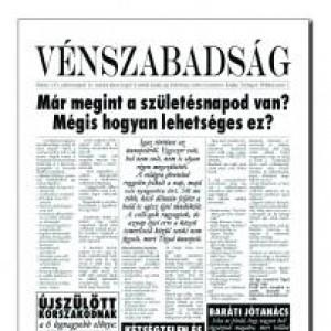 Vénszabadság szülinapi újság