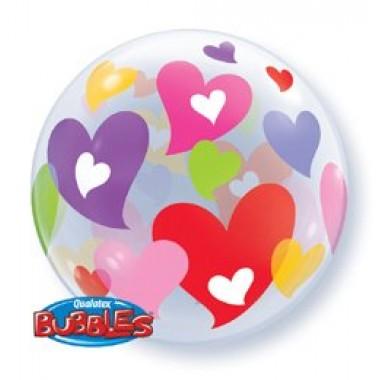 22' szerelmes bubble fóliás lufi