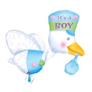 fóliás lufi babaszületésre