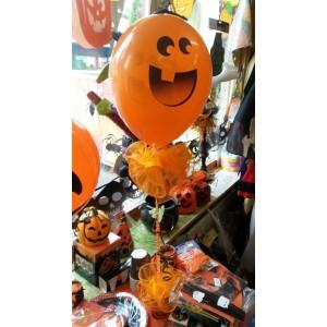 Halloween asztali dísz gumi lufival