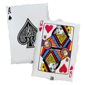 Kártyalap formájú 30' fóliás lufi