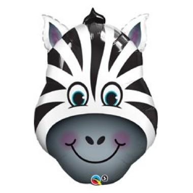 Zebra fej 32' fóliás lufi