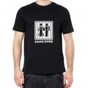 Game over fekete póló