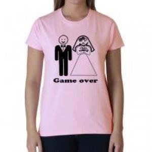 Game over rózsaszín póló