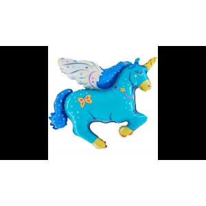 Unicornis kék super shape fóliás
