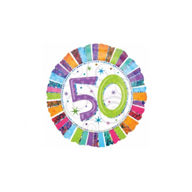 50. szülinapi fóliás lufi