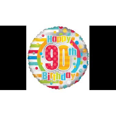 90. szülinapi fóliás lufi