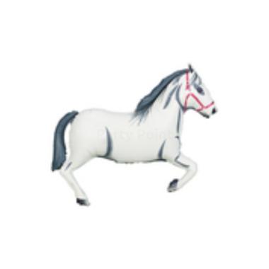 SuperShape - Fehér ló fólia lufi