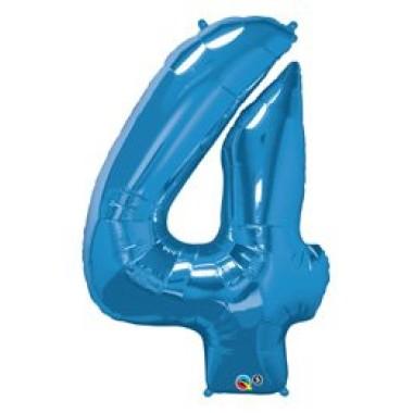1 méteres kék fóliás 4-es  számú lufi