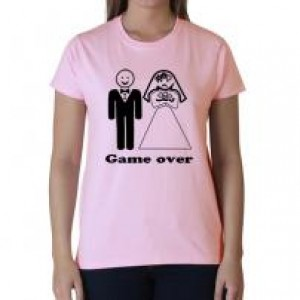 Game over póló pink