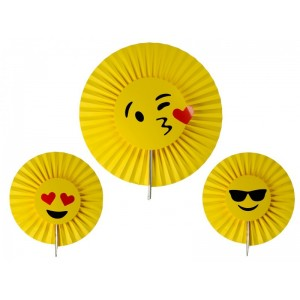 Emoji mintás napocska logó