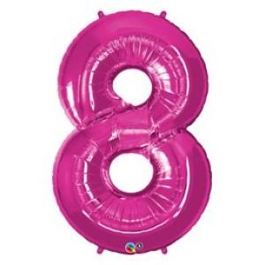 1 méteres pink fóliás 8-as számú lufi