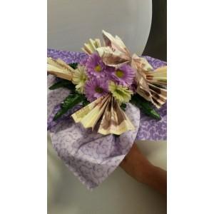 Pénzes virágcsokor 3000 forinttal
