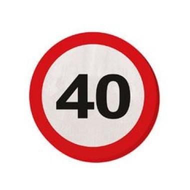 Sebességkorlátozó szalvéta 40-es