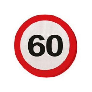 60-as sebességkorlátozós szalvéta