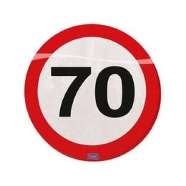 70-es sebességkorlátozós szalvéta
