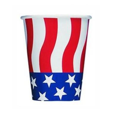 Amerikai zászlós parti pohár